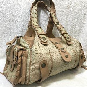 Chloé Silverado Python Shoulder Bag Authentic